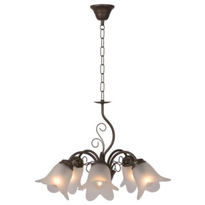 LUCIDE 78360/05/97 LUBERON luster 5xE14 D50cm Satin Glass/Rus