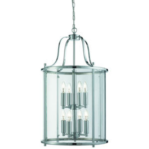 Searchlight Searchlight 3068-8CC 8LT LANTERN, CHROME, CLEAR GLASS