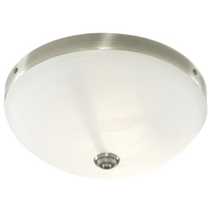 Searchlight Searchlight 5772-2AB WINDSOR 2LT AB FLUSH WITH MARBLE GLASS