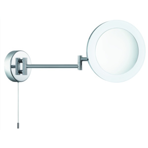 Searchlight BATHROOM SHAVING MIRROR, 3 x MAGNIFICATION, IP44, CHROME, FROSTED OUTER