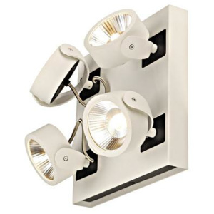 Schrack Technik Schrack Technik LI147641 KALU LED 4 square Wand- & ceiling lumin 4x10W, white/black