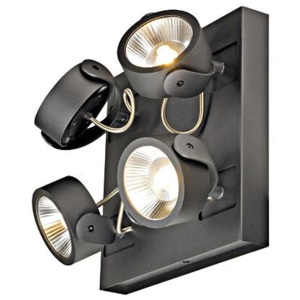 Schrack Technik Schrack Technik LI147640 KALU LED 4 square Wand- & ceiling luminaire, 4x10W, black