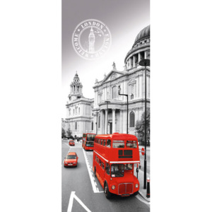 Eurographics Tapety na dvere - British Double Decker 92x202cm