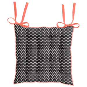 TODAY HIPPIE CHIC podsedák 40x40 cm Zig Zag/Papaye