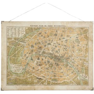 Obraz City map of Paris