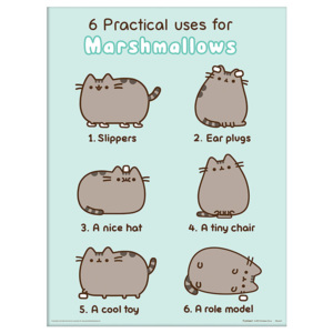 Rámovaný Obraz - Pusheen - Practical Uses for Marshmallows