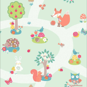 Arthouse Tapeta na stenu - Forest Friends Forest Friends Mint