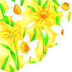 Obrúsky paw r narcissus yellow