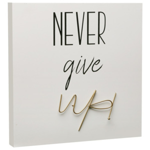 Obraz Versa Never Give Up, 30 × 30 cm