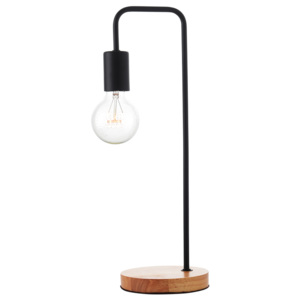 ACA DECOR Stolná lampa Wood Black