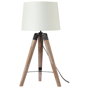 ACA DECOR Stolná retro lampa - Eldorado Beige Small