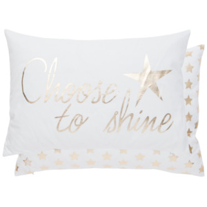 Clayre & Eef Povlak na vankúš Choose to Shine - 35 * 50 cm