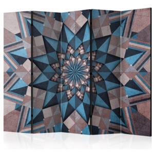 Paraván - Star Mandala (Brown-Blue) II 225x172