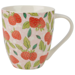 Ružový hrnček z kostného porcelánu Churchill China Caravan Strawberry, 500 ml