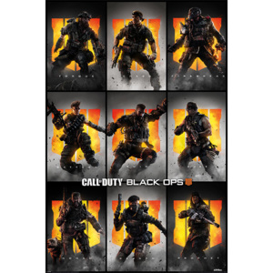 Plagát, Obraz - Call Of Duty – Black Ops 4 - Characters, (61 x 91,5 cm)