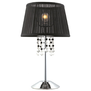 ACA DECOR Stolná lampa Organza Black