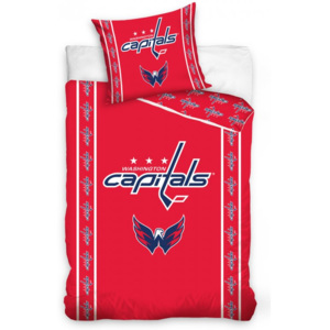 Obliečky klubu NHL Washington Capitals stripes 140x200/70x90 cm