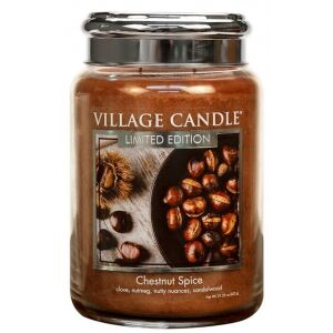 VILLAGE CANDLE - Chestnut Spice - 145-170 METAL