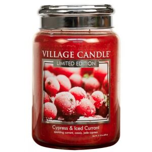 VILLAGE CANDLE - Cypress & Iced Currant - 145-170 METAL
