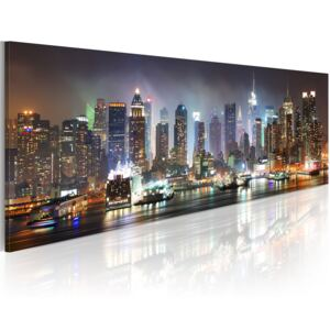 Obraz - White reflections in New York 120x40