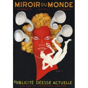 """Cappiello, Leonetto - Reprodukcia, Obraz - Allegory of the Advertising """""""" Current Goddess on whom commerce rests"""""""", with Mercury, god of travellers and commerce. Cover of Mirror du monde magazine n°316, March 21, 1936. Illustration by Leonetto Cappiello"""