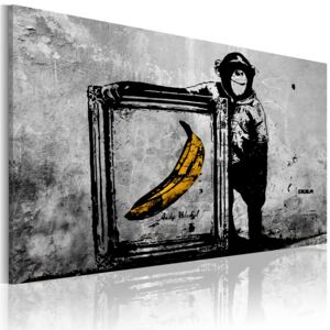 Obraz - Inspired by Banksy - black and white 60x40
