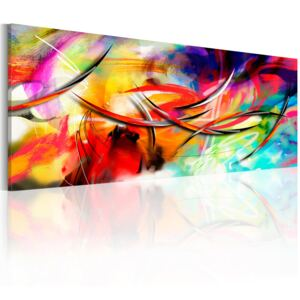 Obraz - Dance of the rainbow 120x40