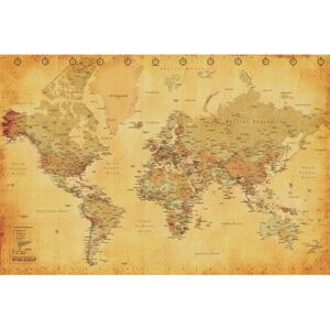 Plagát - World Map (Vintage)