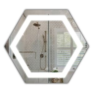 Zrkadlo Hexagon H LED (50x58)