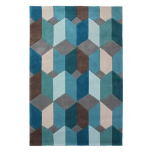 Modrý koberec Flair Rugs Scope, 80 x 150 cm