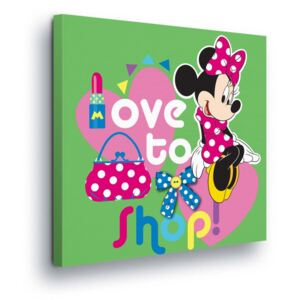 GLIX Obraz na plátne - Disney Minnie Mouse Love Shopping II 40x40 cm