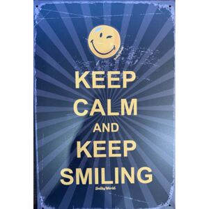 Ceduľa Keep Calm and Keep Smiling