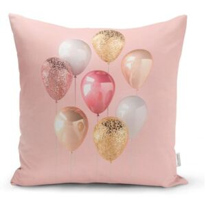 Obliečka na vankúš Minimalist Cushion Covers Balloons With Pink BG, 45 x 45 cm
