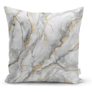Obliečka na vankúš Minimalist Cushion Covers Marble With Hint Of Gold, 45 x 45 cm
