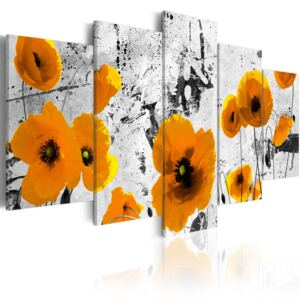 Obraz - Poppies in the royal color 100x50