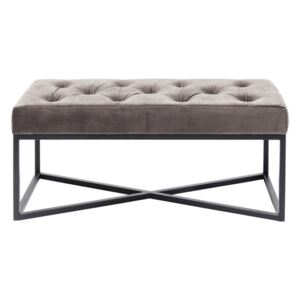 KARE DESIGN Lavica Crossover Grey Black 90×40 cm