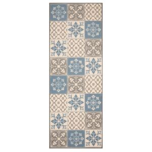 Zala Living - Hanse Home koberce behúň Mare 67x180 Vibe 103492 creme brown blue - 67x180 cm