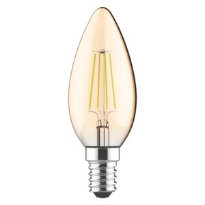 Diolamp Retro LED sviečka Gold 5W/2700lm/400lm/E14/Step Dim