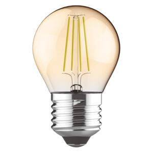 Diolamp Retro LED žiarovka Ball Gold 5W/400lm/E27/Step Dim