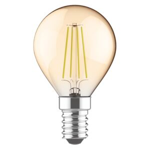 Diolamp Retro LED žiarovka Ball Gold 5W/2700K/E14/400lm/Step Dim