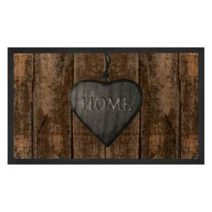 Hanse Home Collection koberce Protiskluzová rohožka Printy 103789 Brown Grey - 45x75 cm