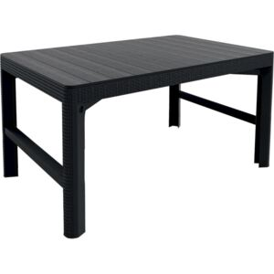 ALLIBERT LYON RATTAN TABLE antracit (232300) - záhradný stôl