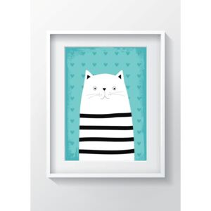 Nástenný obraz OYO Kids Animals With Stripes Cat, 24 x 29 cm