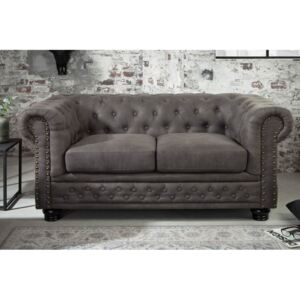 (3025) INGLESE Chesterfield 2sed vintage sivá/taupé