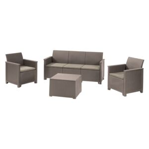 Keter EMMA 3 seaters sofa set - cappuccino