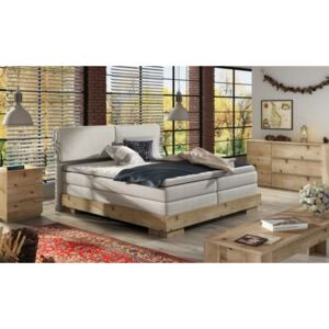 WRL Boxspring Nemea massiv wood + topper