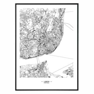 La forma Design studio Lisbon map 50x70 cm