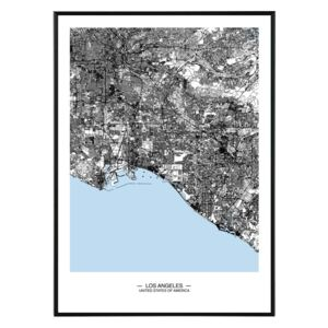 La forma Design studio Los Angeles map 50x70 cm