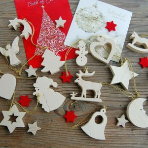 Christmas Collection 14pcs Set Maple Wood