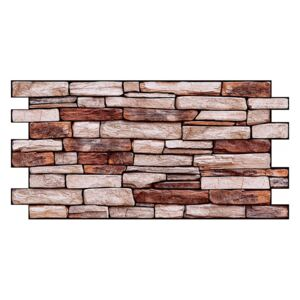 Brown Stone Slate obklad (960 x 480 mm - 0,46 m2)
